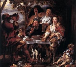 Eating Man | Jacob Jordaens | Oil Painting