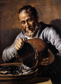 Four Elements and Ages of Man: Water and Old Age | Jan Lievens | Oil Painting