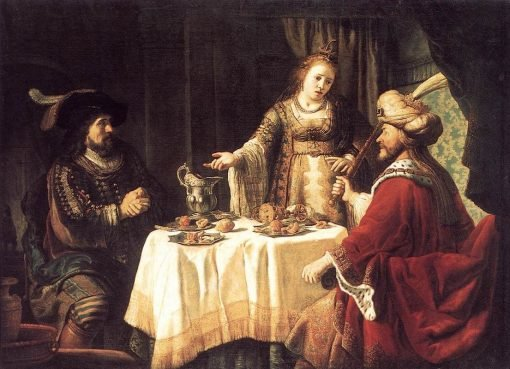 The Banquet of Esther and Ahasuerus | Jan Victors | Oil Painting