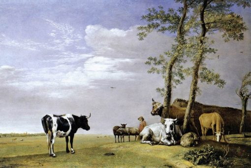 A Husbandman with His Herd | Paulus Potter | Oil Painting
