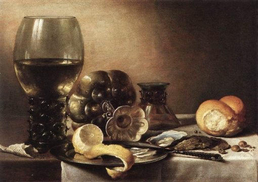 Still Life with Oysters | Pieter Claesz | Oil Painting