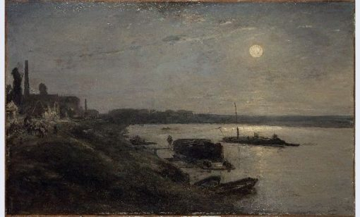 Moonlight on the Seine | Johan Barthold Jongkind | Oil Painting