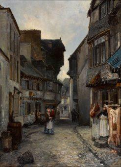 A street in Landerneau | Johan Barthold Jongkind | Oil Painting