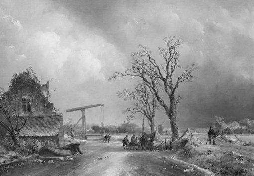 Winter Landscape | Johan Barthold Jongkind | Oil Painting