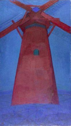 The Red Windmill | Piet Mondriaan | Oil Painting