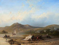 River Landscape | Willem Roelofs | Oil Painting