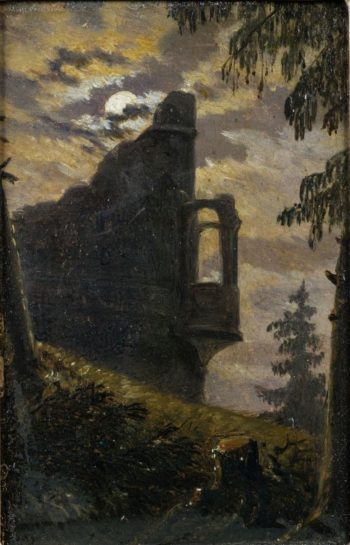 Moonlight behind a Castle Ruin with Alcove | Carl Gustav Carus | Oil Painting