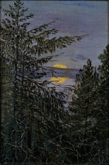 Fir Trees in Moonlight | Carl Gustav Carus | Oil Painting