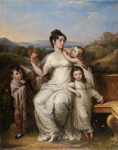 Maria Theresia Josepha Reichsgrafin von Fries (1779-1819) with Her Children | Joseph Abel | Oil Painting