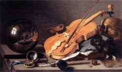 Still Life with Violin and Glass Ball | Pieter Claesz | Oil Painting