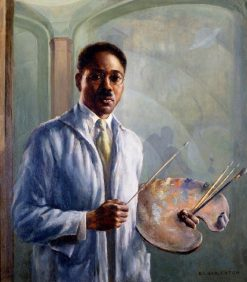 Portrait of Aaron Douglas | Edwin Harleston | Oil Painting
