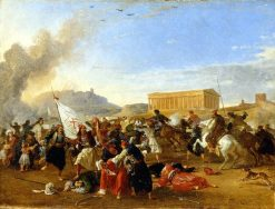 Battle Between the Turks and the Greeks | Franz Ludwig Catel | Oil Painting