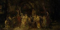 The Marriage Procession | Adolphe Joseph Thomas Monticelli | Oil Painting