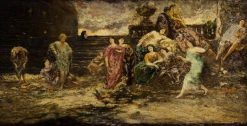 The Orange Game | Adolphe Joseph Thomas Monticelli | Oil Painting