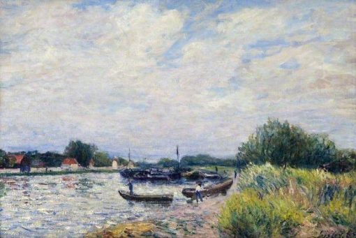 The Loing at Saint-Mammes | Alfred Sisley | Oil Painting