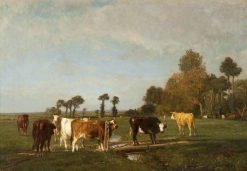 Landscape and Cattle | Constant Troyon | Oil Painting