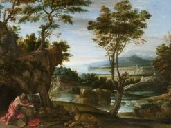 Landscape with Saint Jerome | Domenichino | Oil Painting
