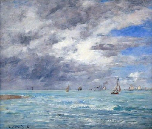 The Shore at Deauville | Eugene Louis Boudin | Oil Painting