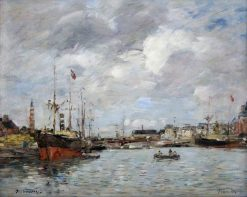 The Port of Deauville | Eugene Louis Boudin | Oil Painting