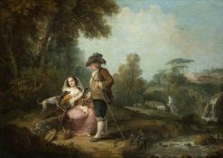 A Pastoral Landscape with Figures by a Stream | Francesco Zuccarelli | Oil Painting