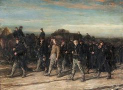 The Belgians on the March | George Ogilvy Reid | Oil Painting