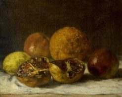 Pomegranates | Gustave Courbet | Oil Painting