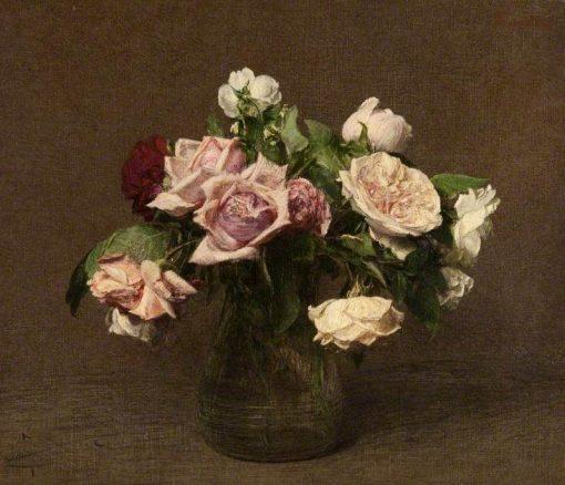 Roses 'La France' | Henri Fantin Latour | Oil Painting