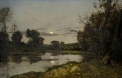 Moonrise | Henri Joseph Harpignies | Oil Painting
