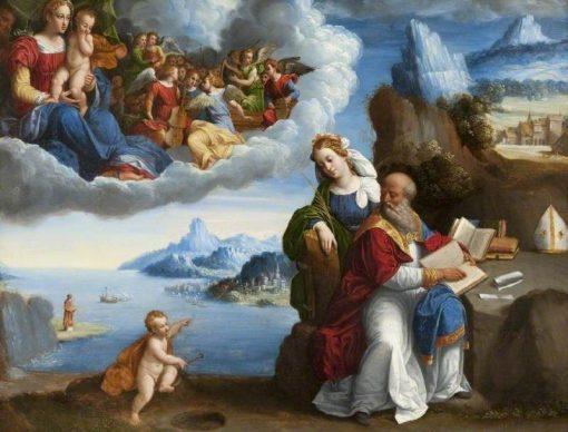 The Vision of Saint Augustine | Il Garofalo | Oil Painting