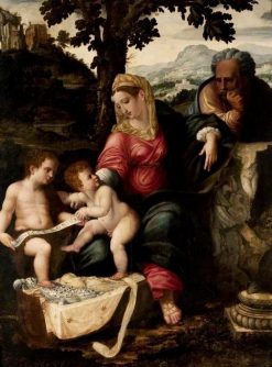 The Holy Family and Saint John the Baptist under an Oak Tree (after Raphael) | Jan van Scorel | Oil Painting