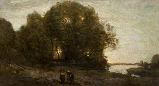 Evening | Jean Baptiste Camille Corot | Oil Painting
