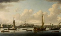 A Shipyard on the Thames | John Cleveley the Elder | Oil Painting