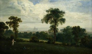 Distant View of London   John Martin   Oil Painting