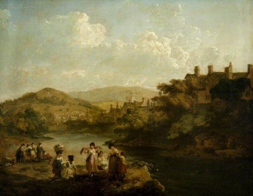 Women Washing Clothes in a Welsh Stream | Julius Caesar Ibbetson | Oil Painting