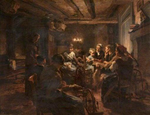 Evening Work | LEon Augustin Lhermitte | Oil Painting