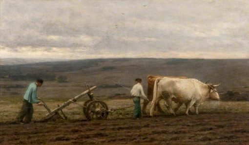 Ploughing with Oxen | LEon Augustin Lhermitte | Oil Painting