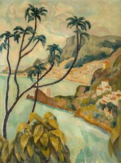 Roquebrune and Monte Carlo from Palm Beach | Roger Eliot Fry | Oil Painting