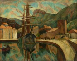 A Provencal Harbour   Roger Eliot Fry   Oil Painting