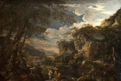 Saint John the Baptist Baptising Christ in the Jordan | Salvator Rosa | Oil Painting