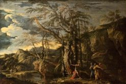 Saint John the Baptist Revealing Christ to the Disciples | Salvator Rosa | Oil Painting