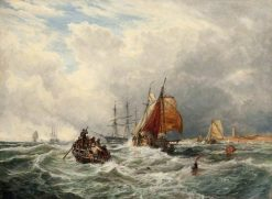 Dutch Lugger Entering the Thames | Samuel Bough | Oil Painting