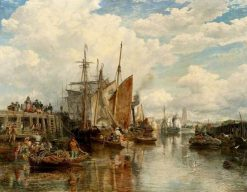 Dunkirk Harbour | Samuel Bough | Oil Painting
