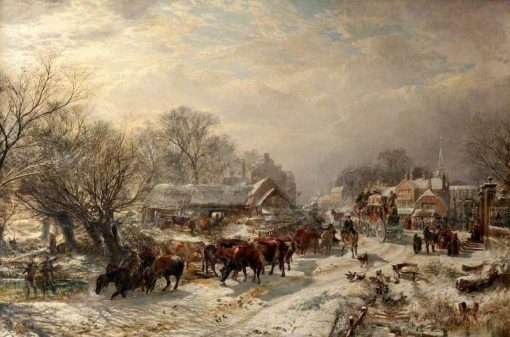 The Mailcoach   Samuel Bough   Oil Painting