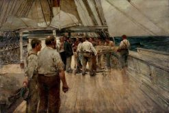 The Burial at Sea | Sir Frank William Brangwyn | Oil Painting