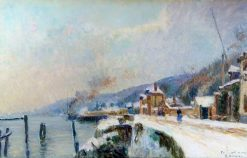 A Wharf on the Seine at Dieppedalle | Albert Lebourg | Oil Painting