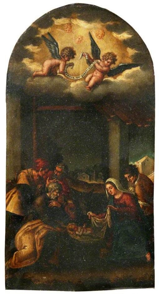 Virgin and Infant Saviour   Jacopo Bassano   Oil Painting