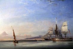 Shipping off Messina | James Harris Senior | Oil Painting