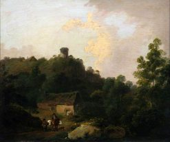 Scene in the Taff Valley | Julius Caesar Ibbetson | Oil Painting