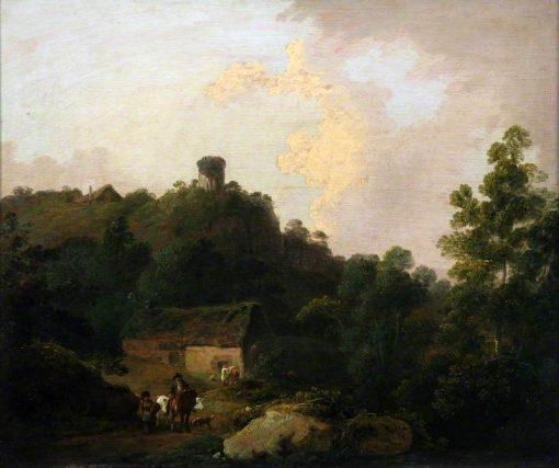 Scene in the Taff Valley   Julius Caesar Ibbetson   Oil Painting