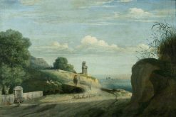 On the Road from Albano to Rome | Thomas Jones | Oil Painting